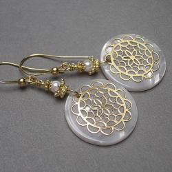 koła,eleganckie,koronkowe - Kolczyki - Biżuteria