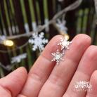 Kolczyki śnieżynki,kolczyki