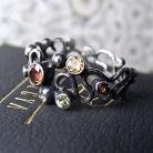 Pierścionki srebrny pierścionek z kamieniami