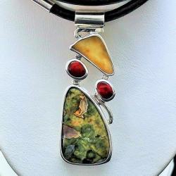 bursztyne,biżuteria z bursztynem,naszyjnik,wisior - Naszyjniki - Biżuteria