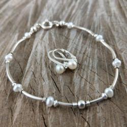 delikatny,perłowy - Komplety - Biżuteria