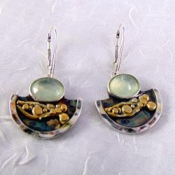 Kolczyki srebrne z prenitemi - Kolczyki - Biżuteria