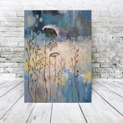 łąka,akryl,pajęczyna - Obrazy - Wyposażenie wnętrz