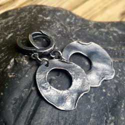 kolczyki wiszące,kolczyki srebro, - Kolczyki - Biżuteria
