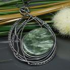 Wisiory serafint,wisior,wire wrapping,duży,zielony