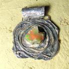 Wisiory wisior srebrny z opalem