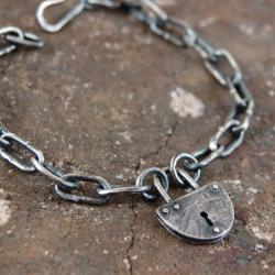 srebrna męska bransoleta - Bransoletki - Biżuteria