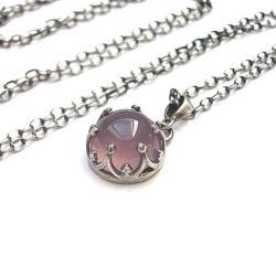 kamień,minerał,wrzosowy,koronkowy - Naszyjniki - Biżuteria