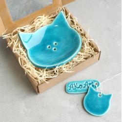 koty,zwierzęta,łazienka,mydelniczka - Ceramika i szkło - Wyposażenie wnętrz