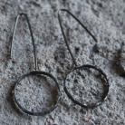 Kolczyki kolczyki,srebro,koła,skromne,proste,lekkie