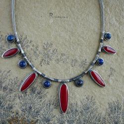 korolowy naszyjnik,koralowy - Naszyjniki - Biżuteria