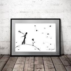 grafika do salonu,dekoracja na ścianę,prezent - Ilustracje, rysunki, fotografia - Wyposażenie wnętrz