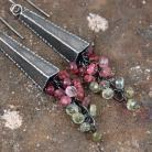 Kolczyki srebrne kolczyki z turmalinami