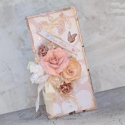 ślub,kwiaty,motyl,w dniu ślubu,kartka - Kartki okolicznościowe - Akcesoria