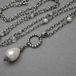 elegancki,perłowy - Naszyjniki - Biżuteria