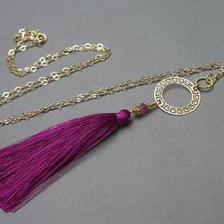 boho,chwost,długi - Naszyjniki - Biżuteria
