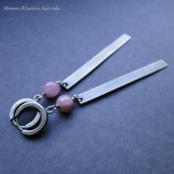 srebro,turmalin,długie,oksydowane - Kolczyki - Biżuteria
