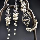 Komplety zestaw ślubny,bransoletka i kolczyki,perly