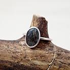 Pierścionki pierścionek,kwarc turmalinowy,srebrny,prezent