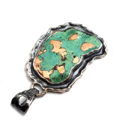 miedź,blask,miedziany,miętowy,srebrny,szarości, - Wisiory - Biżuteria