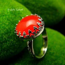 nehesi,pierścionek,srebrny,pierscionek,karneolem - Pierścionki - Biżuteria