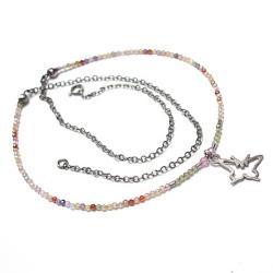 pastelowy,motyl,delikatny - Naszyjniki - Biżuteria