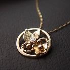 Naszyjniki złoty wisiorek z białym diamentem