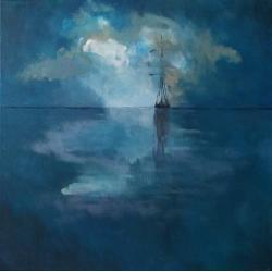 morze,łódź,obraz akrylowy,płótno - Obrazy - Wyposażenie wnętrz