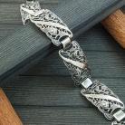 Bransoletki Bransoletka srebrna ażurowa,bransoleta oksydowana