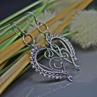 Kolczyki wire wrapping,długie,wiszące,romantyczne,