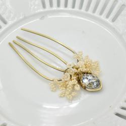 grzebyk,ślub,wesele,Panna Młoda,ozdoba slubna - Do włosów - Biżuteria