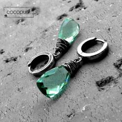 delikatne,codzienne,kolorowe,srebro,komplet - Kolczyki - Biżuteria