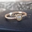 Pierścionki złoty pierścionek z diamentem rozetowym