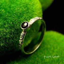 Nehesi,pierścień,srebrny,elfy,delikatny,diament - Pierścionki - Biżuteria