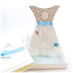 komunia,sukienka,pudełko,pamiątka,różaniec - Kartki okolicznościowe - Akcesoria