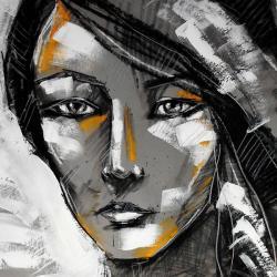 portret,kobieta,pastele,radzka, - Ilustracje, rysunki, fotografia - Wyposażenie wnętrz