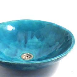 umywalka,turkusowa umywalka,łazienka - Ceramika i szkło - Wyposażenie wnętrz