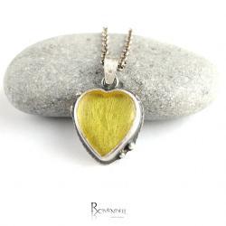 bursztyn,amber,serduszko - Wisiory - Biżuteria