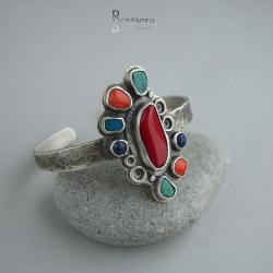 kolorowa bransoleta,koralowa bransoleta - Bransoletki - Biżuteria