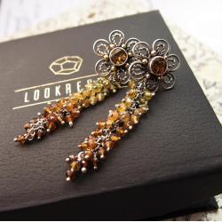eleganckie kolczyki z turmalinem - Kolczyki - Biżuteria