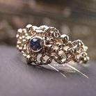 Pierścionki złoty pierścionek zaręczynowy z szafirem