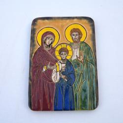 Beata Kmieć,ikona,św. Rodzina,ceramika - Ceramika i szkło - Wyposażenie wnętrz