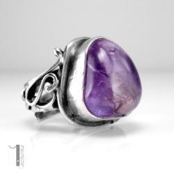 pierścionek srebrny,regulowany,ametryn - Pierścionki - Biżuteria