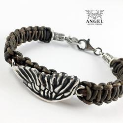 bransoleta damska ze skóry,biżuteria z rzemieni - Bransoletki - Biżuteria