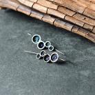 Kolczyki organiczna biżutera z minerałami