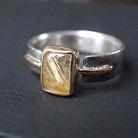 Pierścionki pierścionek z kwarcem rutylowym