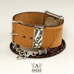 zegarek ze srebra,damski zegarek,bransoleta - Bransoletki - Biżuteria
