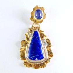 wisior srebrny z lazurytem - Wisiory - Biżuteria