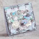 Kartki okolicznościowe ślub,kwiaty,ptaszek