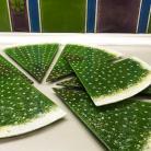 Ceramika i szkło szklane patery